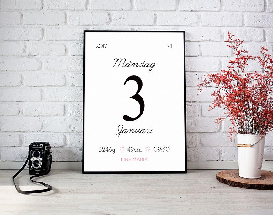 personlig datum tavla