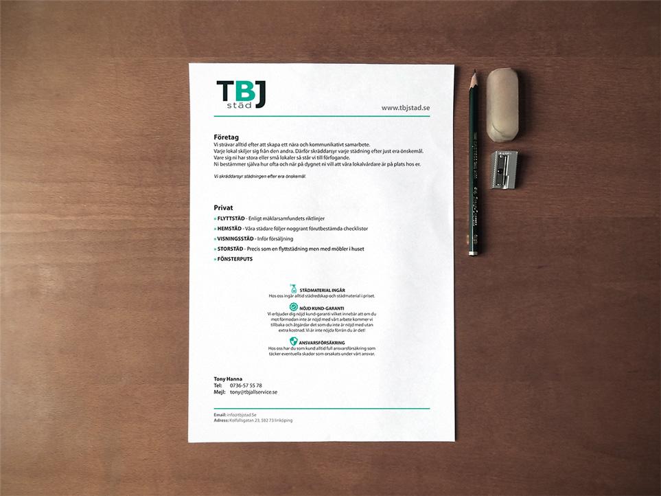 design & tryck av säljblad