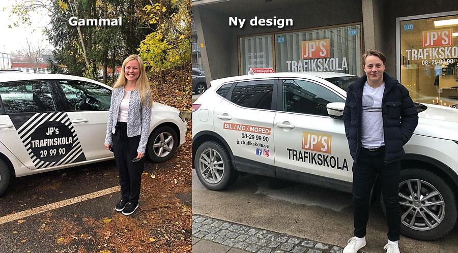 Bildekor striping av bilar