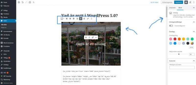 nyheter i wordpress 5