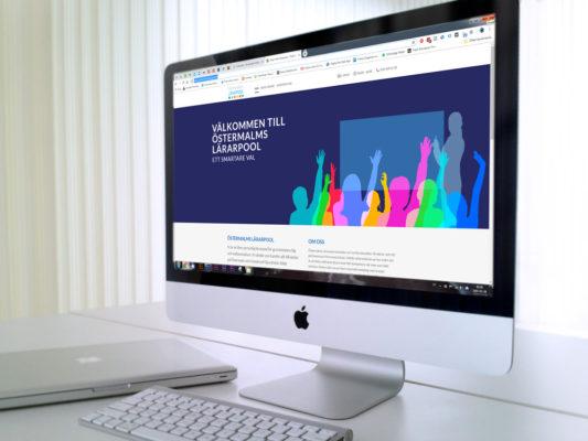 Modern enkel hemsida