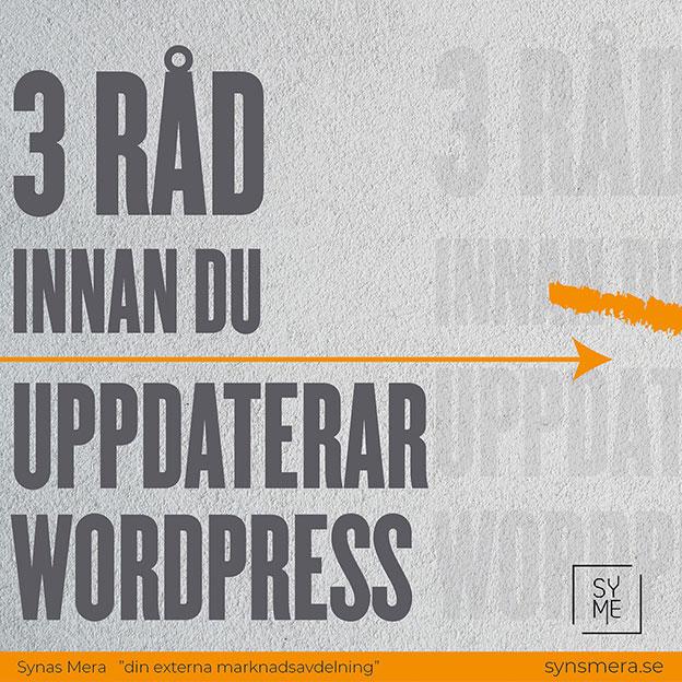 3 råd innan du uppdaterar wordpress