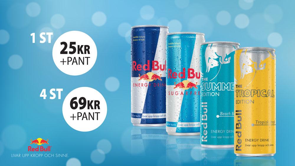 digital meny Red Bull Sweden Rock 2019 design av Synas Mera