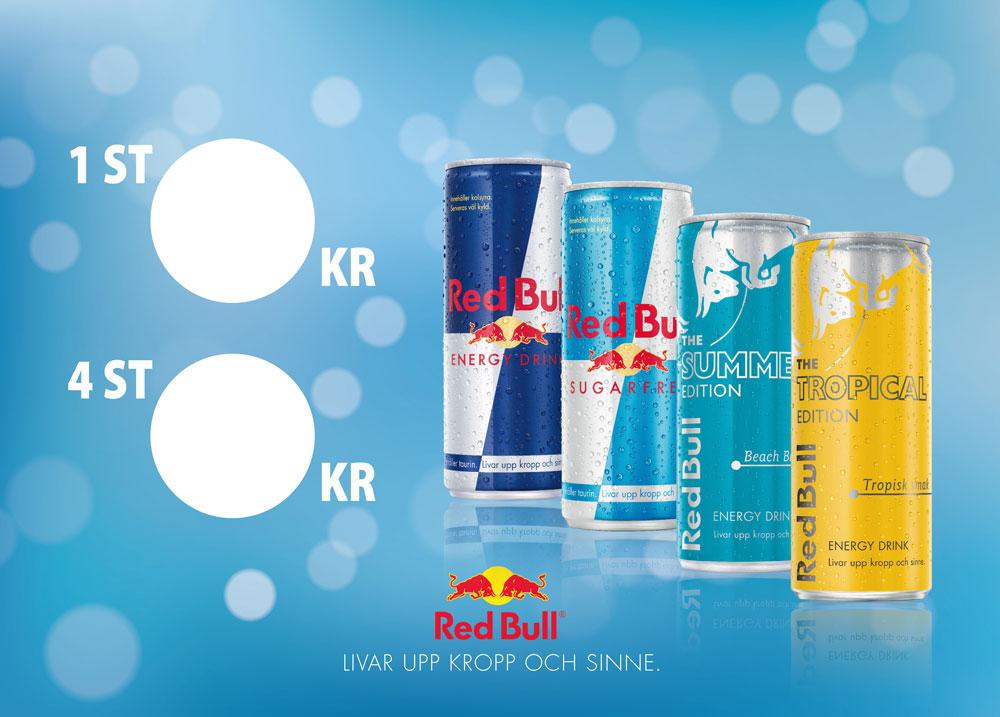 Sweden Rock 2019 50x70cm menyer kanalplast Red Bull